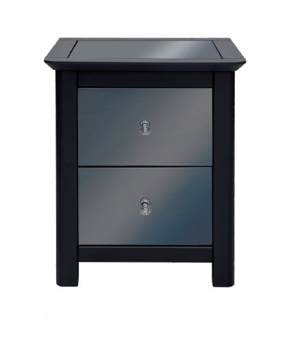 Ayr Smoked Mirror 2 Drawer Bedside